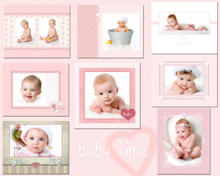 Baby digital photo templates photoshop storyboard or book template jibz easy load baby planners photopshop template set maxwellsz