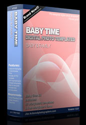 digital photo templates baby & family
