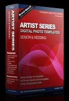 30 Artist Series digital photo templates