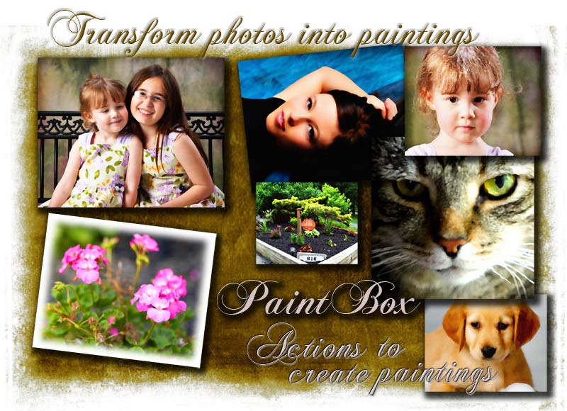 Like a paint brush to a painter!  			Jibz Creative painting actions for Photoshop.