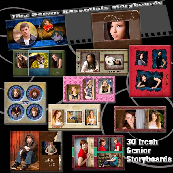 Senior Photoshop Elements Storyboard TemplatesSenior Photo Collage