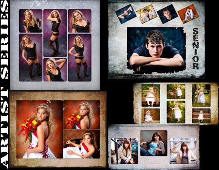Photoshop templates for senior and wedding photographers