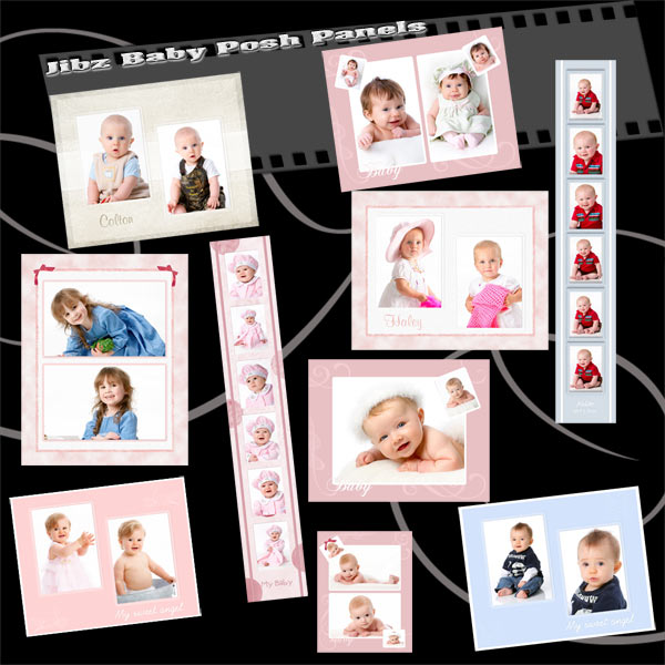 Digital templates wedding family baby posh senior for Free senior templates for photoshop