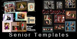 Senior photoshop photo template and storyboard templates
