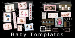 Infant and child storyboard digital templates