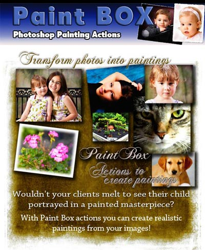 Art Photoshop actions to create paintings