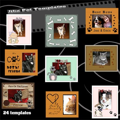 Jibz easy load pet templates for photographers for Elements and Photoshop