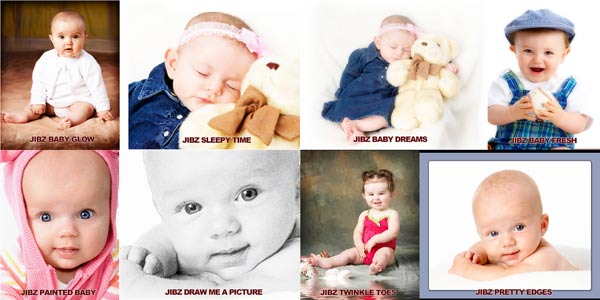Photoshop actions designed for soft baby images