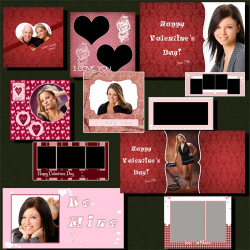 Jibz Easy Load Valentine Photo Templates For Elements And Photoshop