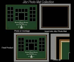 Insert photo template into mats for finished product.s